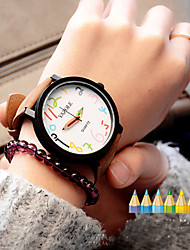 Womens Watches Fashion Leather Graffiti Female Watch Analog Quartz Watch For Women Men Couple's Watch Cool Watches Unique Watches