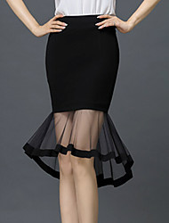Women's Skirts Sexy Perspective Bodycon  Grenadine Skirts