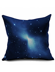 Starry Sky Cotton/Linen Pillow Cover Nature Modern/Contemporary Pillow Linen Cushion