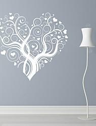 Romantik / Mode / Blumen Wand-Sticker Flugzeug-Wand Sticker,PVC M:42*46cm / L:55*60cm