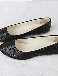 Черный / Золотистый-Женская обувь-Для прогулок / На каждый день-Дерматин-На плоской подошве-Удобная обувь-Обувь на плоской подошве