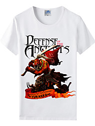Flaming Light Cotton Lycra Men's T-shirt/World of Warcraft Wow Series Heroes T-Shirt/Blademaster 1Pc
