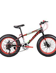 """ciclismo de freio de disco duplo de aço-carbono bicicleta praia bicicleta de montanha 7 velocidades 20 """""""