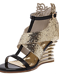 Women's Shoes  Wedge Heel Wedges / Open Toe Sandals Wedding / Office & Career / Party & Evening / Dress Silver / Gold