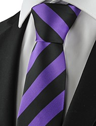 New Striped Black Purple Mens Tie Suit Necktie Party Wedding Holiday Gift KT1024