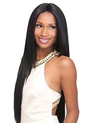 Capless Black Color Long Length High Quality Natural Straight Hair Synthetic Wig