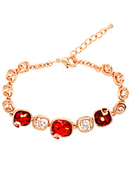 Casual Gold Plated / Alloy / Rhinestone / Gemstone & Crystal Link/Chain Bracelet