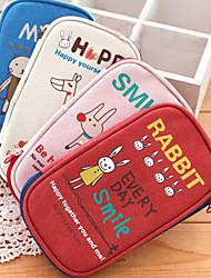Large Canvas Bag Cartoon Animal Pen Large Personality Stationery Bag