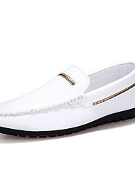 Men's Shoes Casual Leatherette Loafers Black / White / Orange