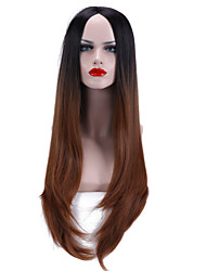 """28"""" Natural Wave 2 Tone Ombre Wig Heat Resistant Synthetic Wig"""