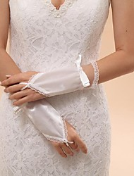 Wrist Length Fingerless Glove Elastic Satin Bridal Gloves / Party/ Evening Gloves