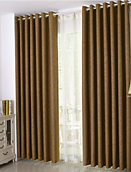 Country Curtains® Room Darkening Faux Linen Jacquard Solid Curtain Two Panels