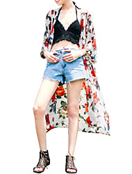 Women's Fashion Floral Thin Cover-Ups , Chiffon