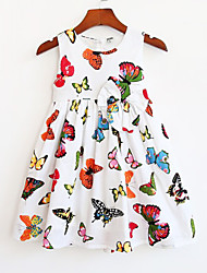 Girls Fashion Butterfly Print Party Pageant Casual  Beautiful Kids Clothes  Dresses