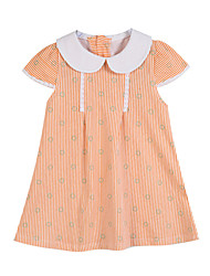 Ensemble de Vêtements Fille de Coton Eté / Printemps Vert / Orange