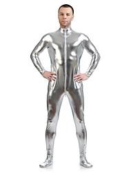 """Блестящие костюмы на все тело """"зентай"""" Morphsuit Ниндзя Костюмы зентай Косплэй костюмы Серебрянный Однотонныйтрико/Комбинезон-пижама"""