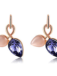 Earring Drop Earrings Jewelry Women Gemstone & Crystal / Rose Gold Plated 1pc Silver / Rose Gold