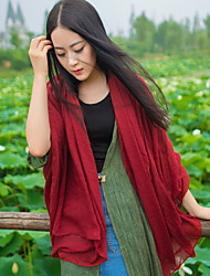 Korean Version Of The New Autumn And Winter Long Scarf Shawl Cotton Solid Color Female Couple Shawl