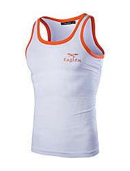 Men's Sleeveless Vest,Cotton Casual / Sport Pure