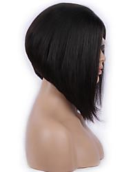10inch brasileiro do cabelo humano cor natural cheia do laço peruca straigh