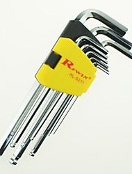 REWIN® TOOL Technical Grade Inch 9Pcs Hex Key set The S2 Alloy Steel