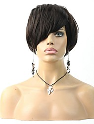 Short Human hair Unprocessed Virgin Brazilian Glueless None Lace Machine Made Human Hair Wigs
