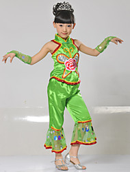 Performance Outfits Children's Performance Polyester Appliques / Sequins 4 Pieces Sleeveless Sleeves / Pants / TopTOP S:28cm M:30cm