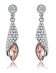 Earring Drop Earrings Jewelry Women Gemstone & Crystal / Platinum Plated 1pc Orange / Purple
