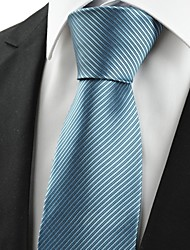 Cravate(Bleu Clair,Polyester)Rayé