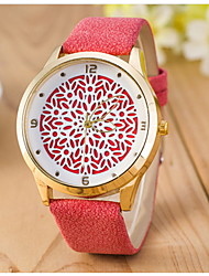Women's Fashion Dot-Dot Quartz Watch Leather Band with Brick Cool Watches Unique Watches