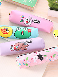 Animal Cylinder Pencil Man Girl Stationery Pen Bag