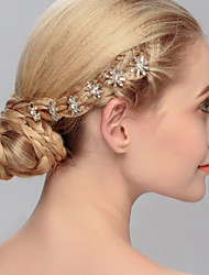 Women's Crystal Headpiece-Wedding / Special Occasion / Casual / Office & Career / Outdoor Hair Pin 6 Pieces Clear