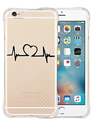 Pour Coque iPhone 6 Coques iPhone 6 Plus Transparente Motif Coque Coque Arrière Coque Dessin Animé Flexible Silicone pouriPhone 6s Plus/6
