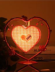 lampes d'éclairage lampe coeur de la lampe de chevet de la chambre de pêche de création européen cadeau personnalité romantique (couleur