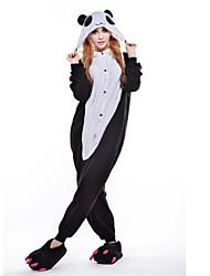 kigurumi Pyjamas Collant/Combinaison Fête / Célébration Pyjamas Animale Halloween Noir/blanc Polaire Kigurumi Pour UnisexeHalloween Noël