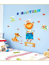 SK7007 Cartoon Boy Cartoon Wall Stickers For Kids Rooms Home Decor Removable Wall Decals Room Creative Wall Decor