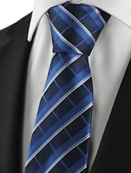 New Plaid Checked Navy Classic Mens Tie Formal Suit Necktie Holiday Gift KT1009