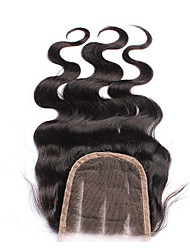 "10-22"" Black Full Lace Body Wave Human Hair Closure Black Chinese Lace 43g-75g gram Cap Size"