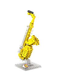 Золотое ABS Строительные блоки DIY игрушки
