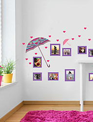 Umbrella Romantic Love Beautiful Photo Frame Wall Stickers