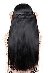 Brazilian Virgin Hair 4pcs Straight Human Hair Weaves Natural Black Brazilian Straight Hair 8-26 inch Hot Sale.