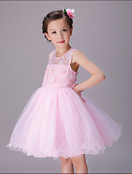 Fashion & Sweet Chiffon Beading Ball Gown Knee-length Flower Girl Dresses