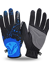 NUCKILY Cycling Gloves Thin Section Breathable Mountain Bike Riding Long Fingerless Gloves Slip Summer Touch