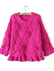 Damen Pullover - Einfach Baumwolle / Polyester Medium Langarm