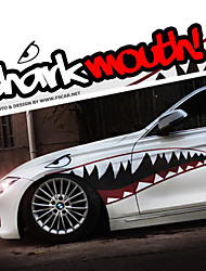 "A Size 60""*20""Cool Shark Mouth Teeth Ho Car Auto Body Decals Sticker Reflective (1 Pair)"