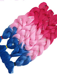 32inch (82cm) long 165g Rose Red/Pink/ Blue Synthetic Hair Ombre  Kanekalon Xpression Braiding Hair  Jumbo Braid