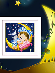 DIY 5D Diamond Embroidery Moon Angel boys and girls Magic Cube Round Diamond Painting Cross Stitch Kits Diamond Mosaic