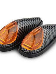 2 x Carbon Motorrad gelb High Power LED-Blinker-Kontrollleuchte