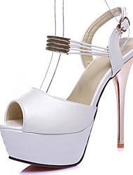 Women's Wedding Shoes Peep Toe / Platform Heels Wedding / Party & Evening / Dress Blue / Pink / Purple / White