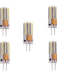 3W G4 LED à Double Broches T 48 SMD 3014 200 lm Blanc Chaud / Blanc Froid Gradable AC 100-240 / AC 12 V 5 pièces